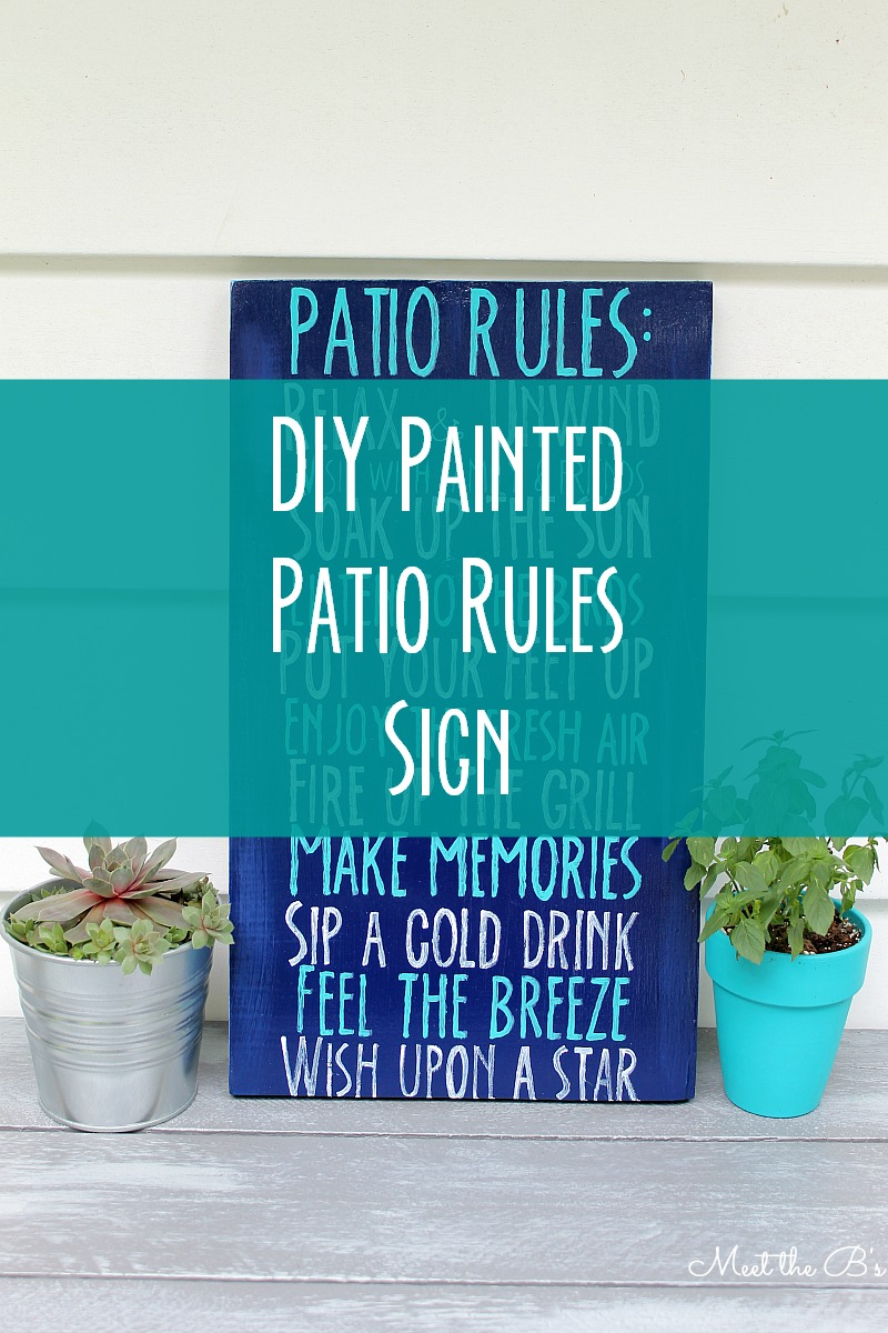 Diy Patio Rules Wooden Sign The Inspired Hive