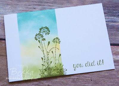 Serene Silhouettes You Did It! Recognition Cards for my Stampin' Up! UK Team