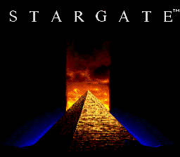 Stargate SNES title screen