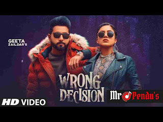 Wrong Decision Lyrics - Geeta Zaildar | Gurlez Akhtar