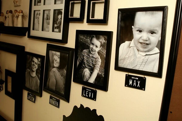 Photo frame depicts the child's development