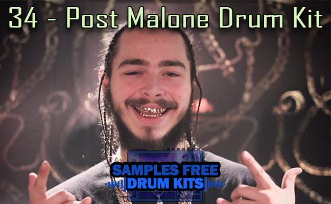 34 - Post Malone Drum Kit Grátis - Drum Kit de Trap Grátis