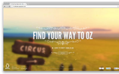 Find Your Way To OZ: A Funny Chrome Experiment