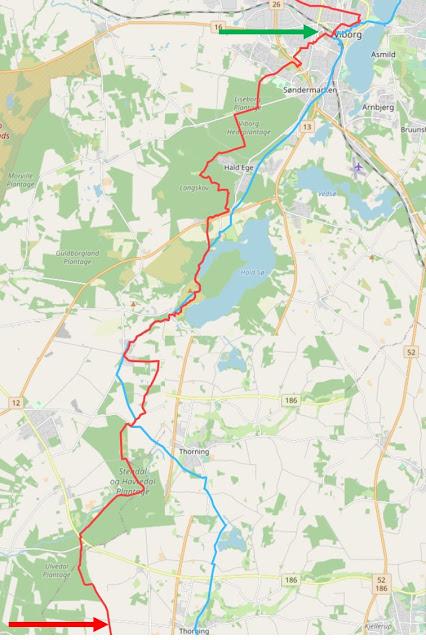 Hærvejen Viborg - Thorning