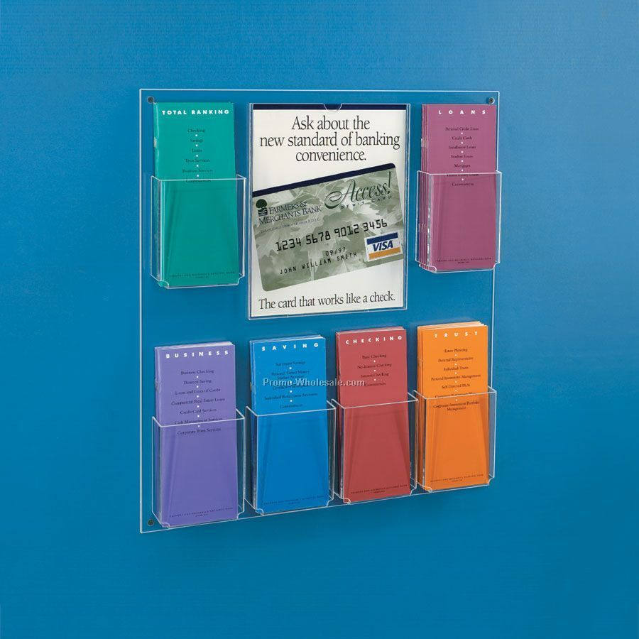 Brochure Samples Pics: Brochure Racks Wall Mounted