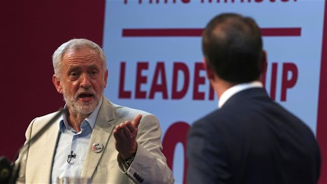 Britain's Labour Party Voting starts between Jeremy Corbyn and Owen Smith