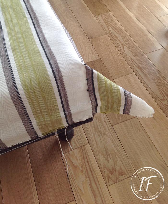 DIY Slipcovered Ottoman