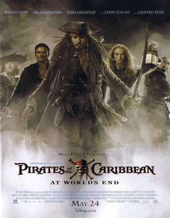 Poster Of Pirates of the Caribbean At World's End 2007 Dual Audio 750MB BRRip 720p ESubs HEVC Free Download Watch Online downloadhub.in