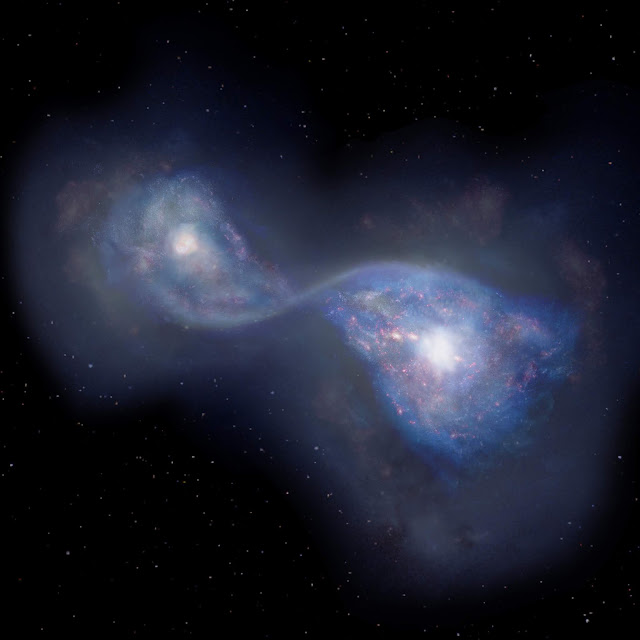 ALMA finds earliest example of merging galaxies