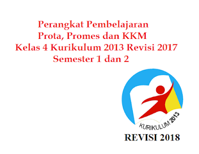 Prota, Promes dan KKM SD/MI Kelas 4 K13 Revisi 2017 Semester 1 dan 2