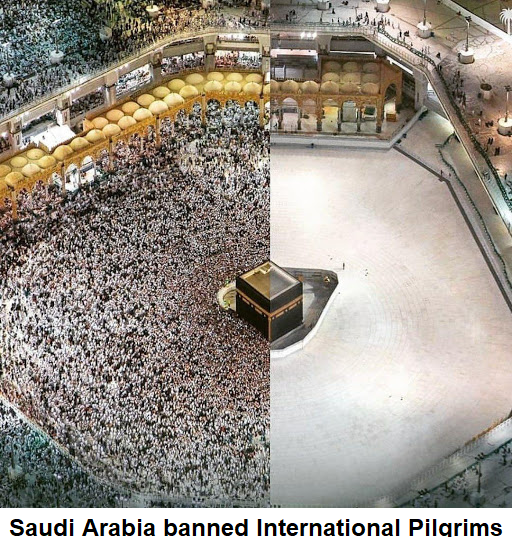 Saudi Arabia banned International Pilgrims.