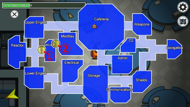 Security(セキュリティルーム)のタスクマップ説明画像