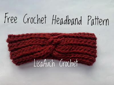 Crochet Headband pattern with a twist front