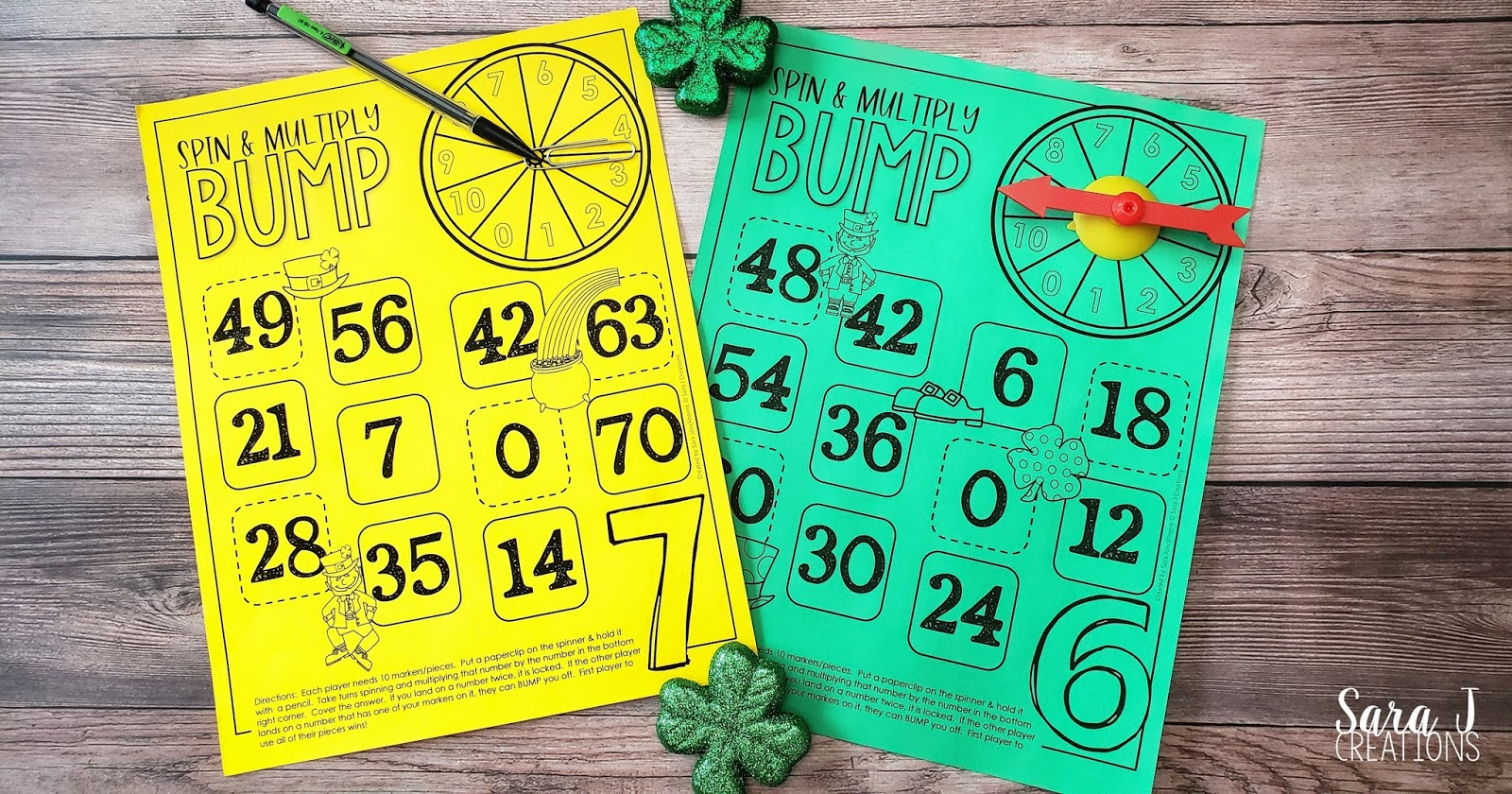 St. Patrick's Day Multiplication Bump is the perfect way to practice math facts in a fun and festive way. These games are perfect for kids in second grade, third grade, or even fourth grade and beyond. Download, print, and play!! Try out the FREE sample.