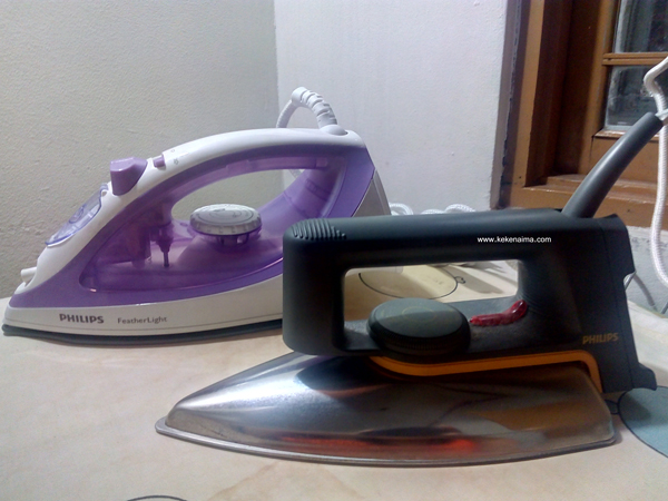 philips steam iron, setrika, setrika uap