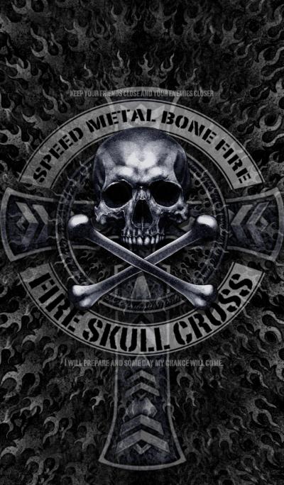Fire Skull Cross