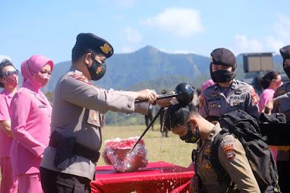 Kapolda Sulsel Pimpin Upacara Pembaretan Bintara Remaja pamapta Angkatan 45 TA.2021