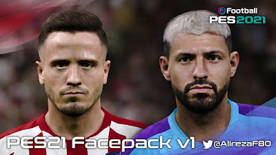 PES 2021 Faces Saul Niguez & Sergio Aguero by Alireza