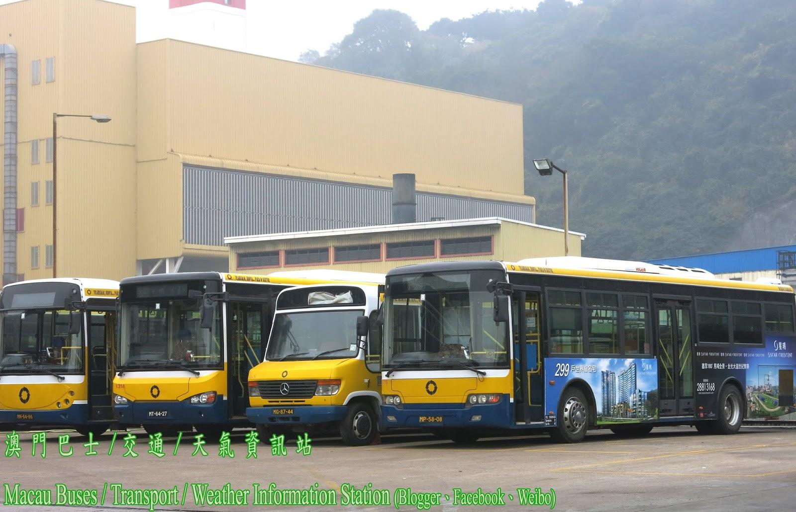澳 門 巴 士 / 交 通 / 天 氣 資 訊 站 Macau Buses / Transport / Weather Information Station: 新福利重新翻新一部BENZ O814小巴