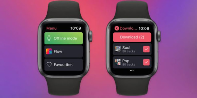 The Deezer app on the Apple Watch lets you listen to music even offline