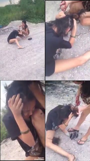 Clip: Ngủ với chồng người khác, cô gái bị cắt tóc, đánh đập dã man giữa đường