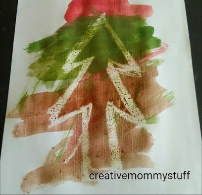 Christmas tree art for kids