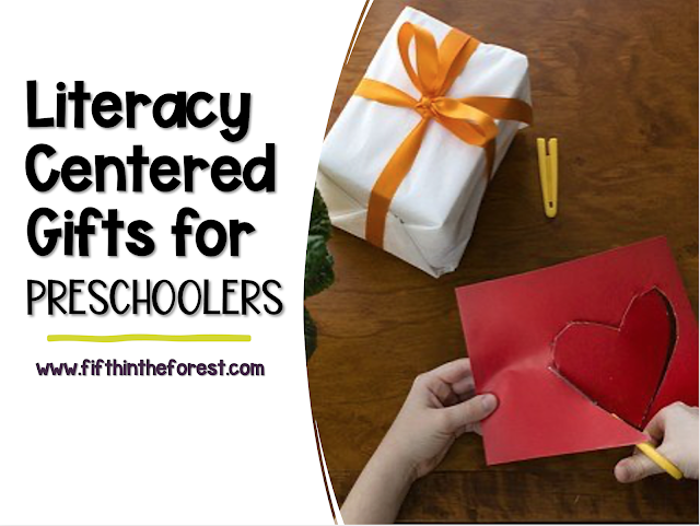 Title Image for 15 Literacy Centered Gifts for Preschoolers