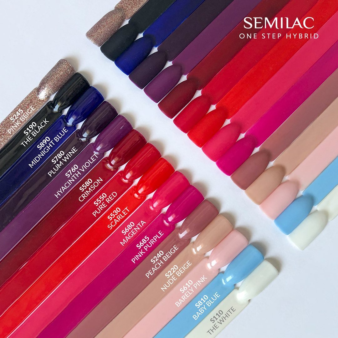 Nowości Semilac Extend 5in1, Semilac One Step Hybrid - Lakiery Hybrydowe Semilac
