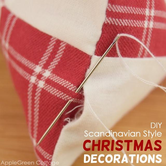 Diy Christmas decorations in Scandinavian style