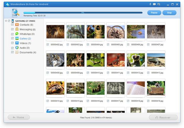 Pilih file dan klik 'Pulihkan'