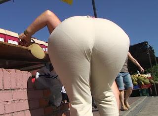 Señora caderona pantalon vestir calzon marcado