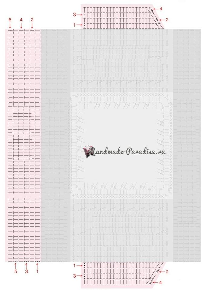 Вязание крючком обложки для книжки (2)