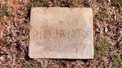"Headstone that reads ""BILLINGTON INFENT"""