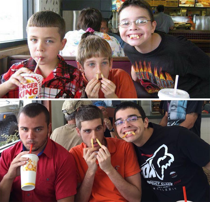 30 Beautiful Recreations Of Childhood Pictures - 11 Years Later Burger King Still Sucks And My Only Friends Are Fucking Weird