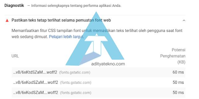 Cara Memperbaiki Pastikan Teks Tetap Terlihat Selama Pemuatan Font Web