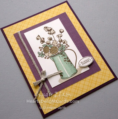 Heart's Delight Cards, Country Home, Thanks, Thank You, Stampin' Up!