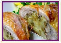 Kuřecí stehna s nádivkou - Recepty a vaření
