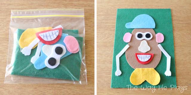 Felt Mr Potato Head | 20 Busy Bags for Busy Little People