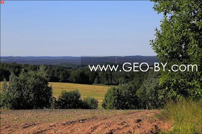 Вид с высоты 303 у Душково в сторону деревни Выгоничи