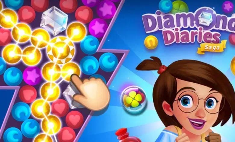 قم بتنزيل Diamond Diaries Saga الجديدة ، وهي لعبة رابط لغز جديدة من King ، المبدعين لـ Candy Crush Saga.