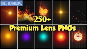 Download HD lens flare Pngs for Editing