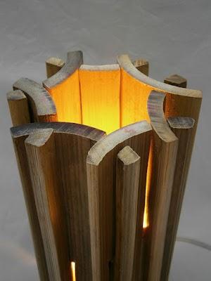 Cara Mudah Membuat Kerajinan Dari Bambu Berbentuk Lampu Meja