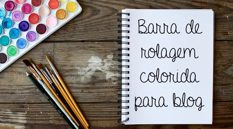 Barra de navegação colorida no blog