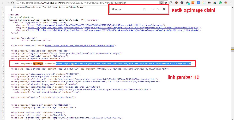 Cara Download Foto Profil Youtube Orang Lain Secara Hd Teknorizen Com