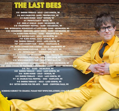 Summer 2019 live music events, festivals, venues, concert hall to see The Last Bees playing live in Wisconsin and Midwest USA