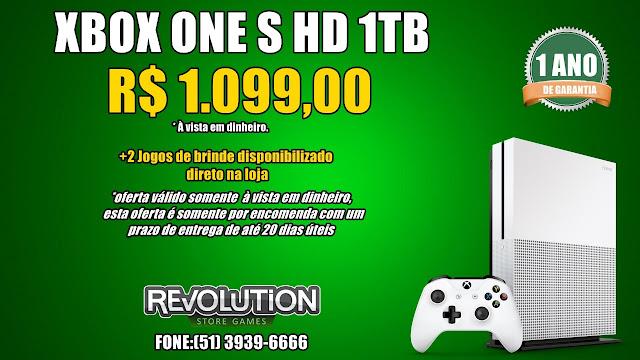 7e3a4d6a77 PRÉ VENDA - XBOX ONE X 1TB: - COMBO 1 - XBOX ONE X 1TB (1 ano de garantia)  - De R$ 2.999,90 por R$ 2.599,90 somente à vista em Dinheiro - Aceitamos  jogos e ...