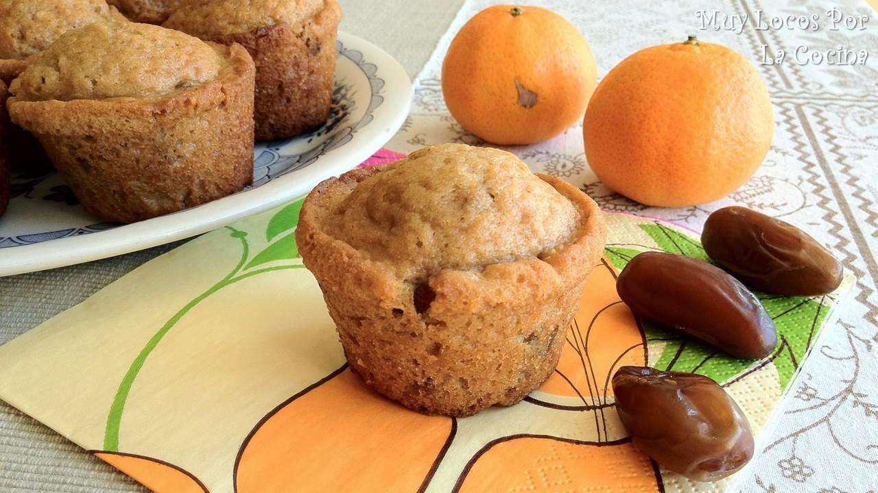 Muffins de Naranja, Dátiles y Nueces