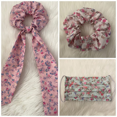 loveshackfancy scrunchie hair tie and mask