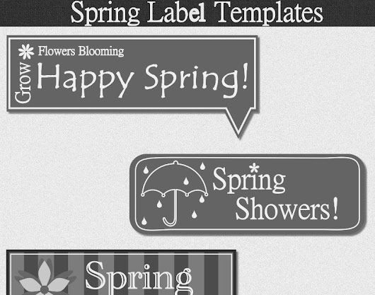 Spring Labels Template
