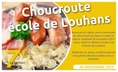 Opération choucroute à emporter des écoles Vial-Vincent de Louhans le 20 novembre 2015
